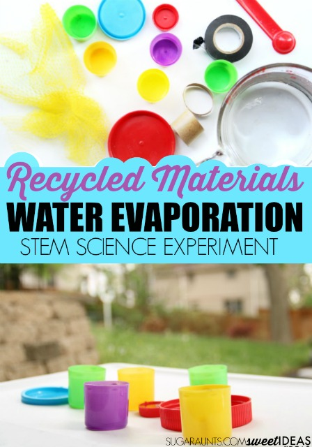 Evaporation experiment using recycled materials
