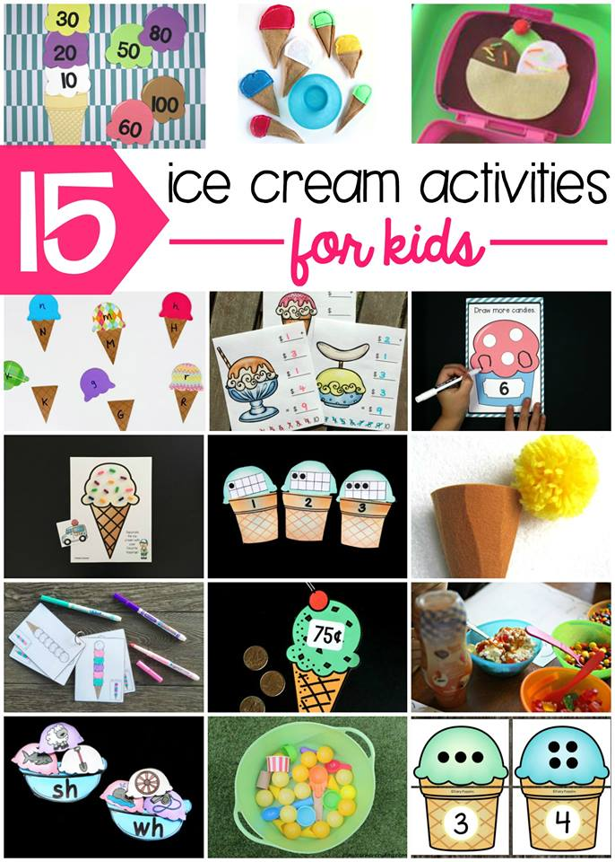 ice cream learning and play activities for kids