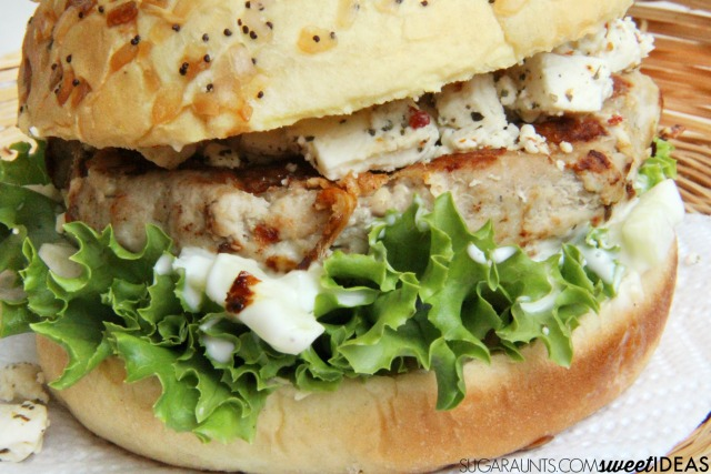 Greek Turkey Burger Recipe, perfect for summer cooking and barbecues
