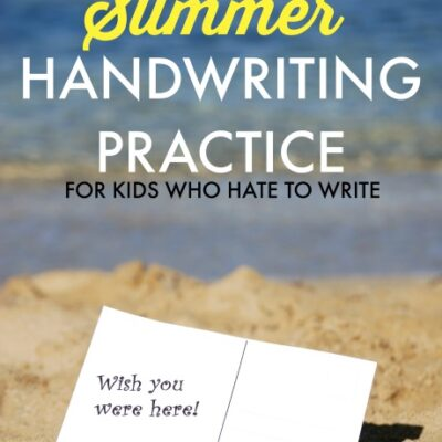 Natural Writing Experiences for Summer Handwriting