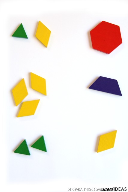 Visual Form Constancy Activity with Tangrams