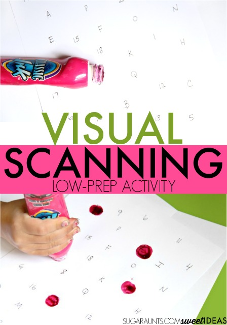 photo relating to Printable Visual Scanning Worksheets for Adults called Entertaining and Simple Visible Scanning Video game - The OT Toolbox