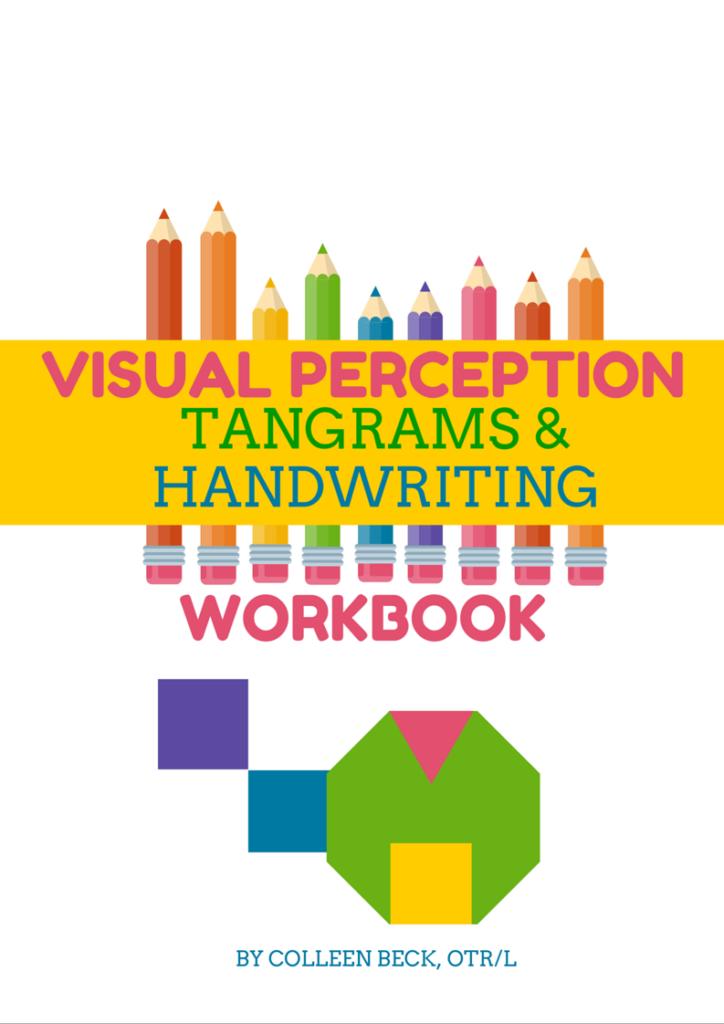 Visual Perception, Tangrams, & Handwriting Workbook