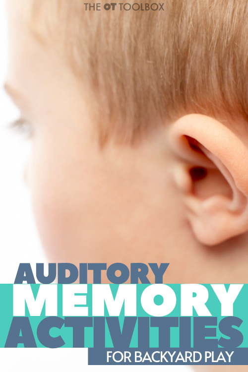 auditory memory activities for kids to do at outdoors at home.