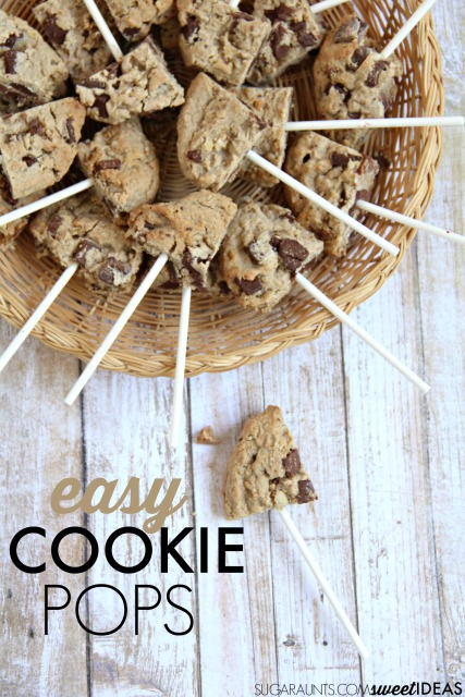 Easy cookie pop recipe for kids and families