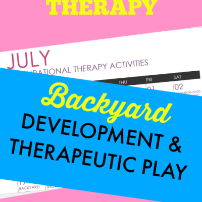 July Occupational Therapy Calendar