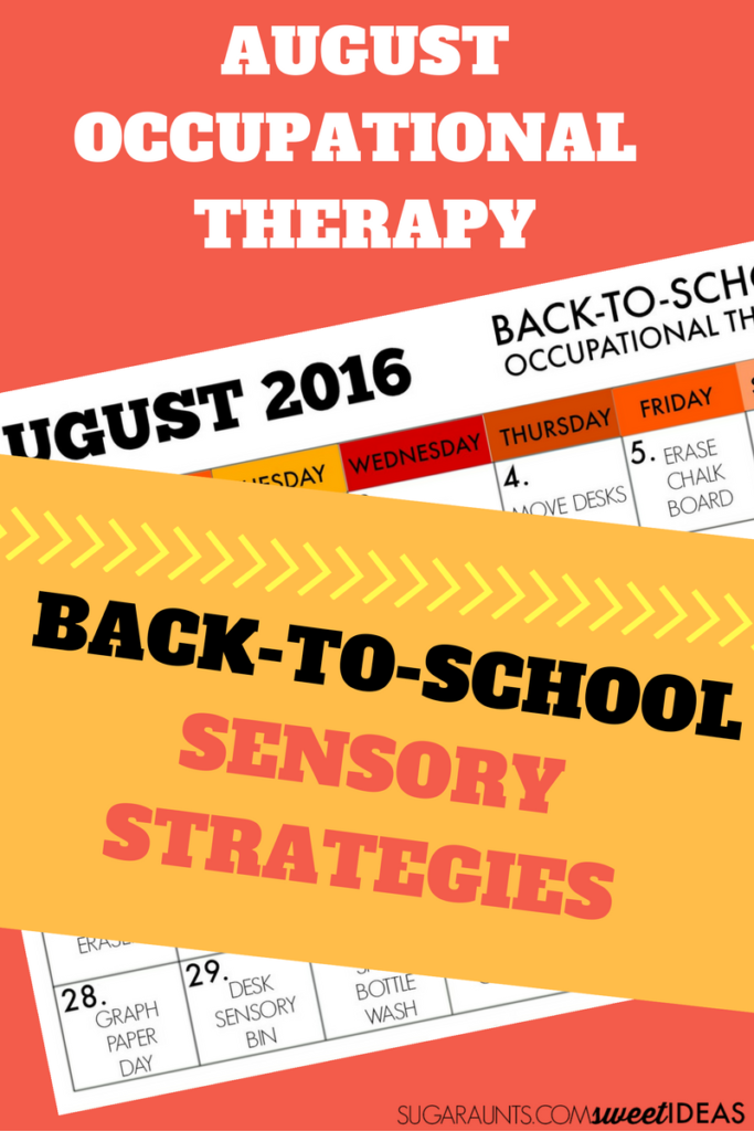 sensory activities and strategies for the classroom, perfect for back to school in the classroom or homeschool routine.