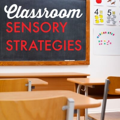 Back to School Sensory Activities August OT Calendar