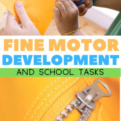 Fine Motor Skills Needed at School