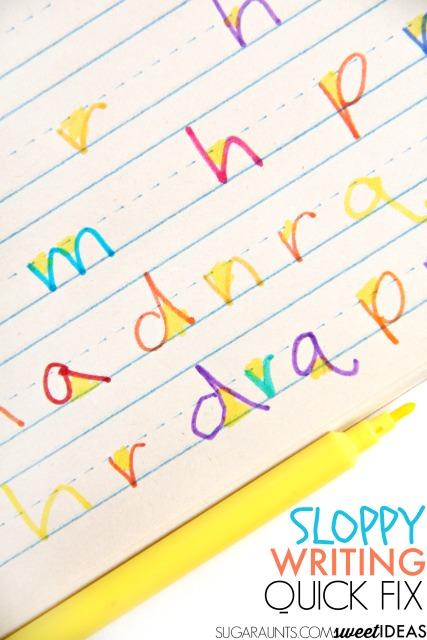 Soppy writing tips for better handwriting