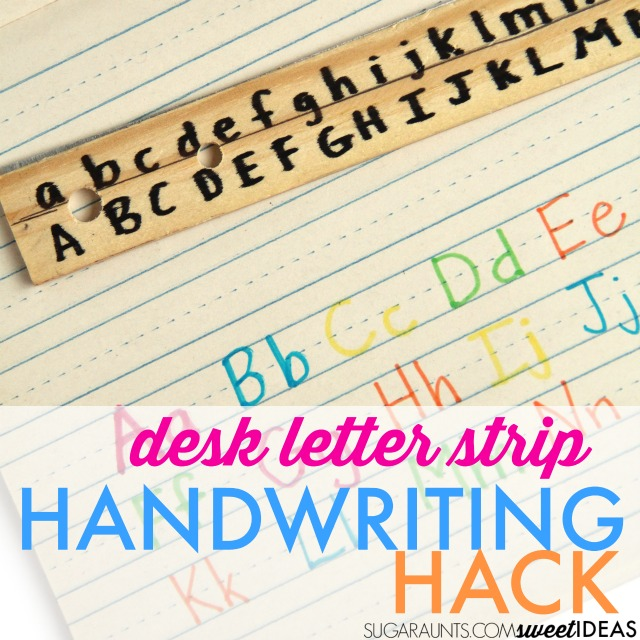 Make a Desk Letter Strip from a ruler to help kids work on letter formation.