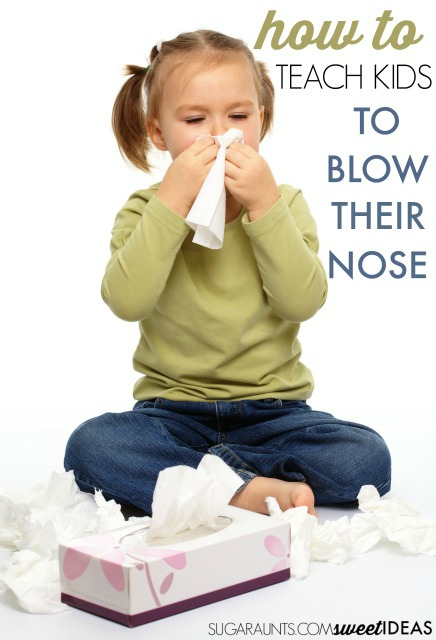 Tips to teach kids how to blow their own nose. This is great for typically developing kids and special needs kids.
