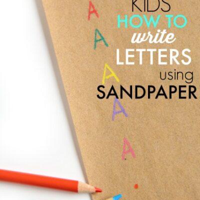 Sandpaper Letter Formation Trick