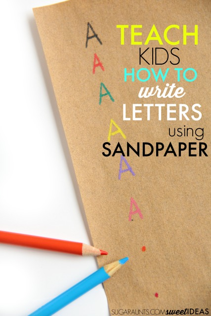 Letter formation activity with sandpaper