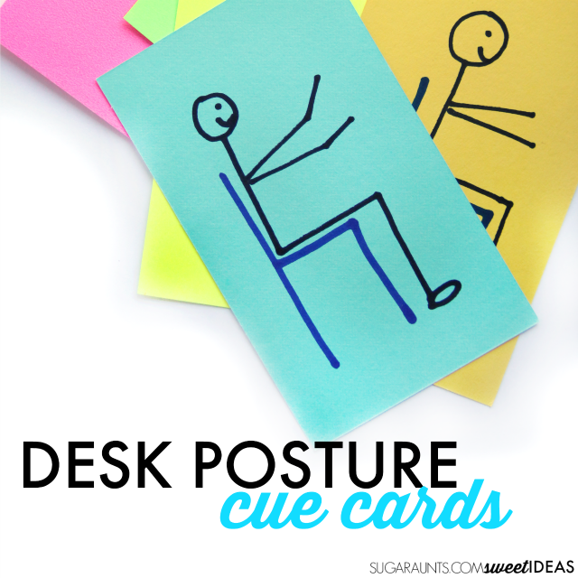 Try this trick for helping kids improve their handwriting by working on their desk posture.