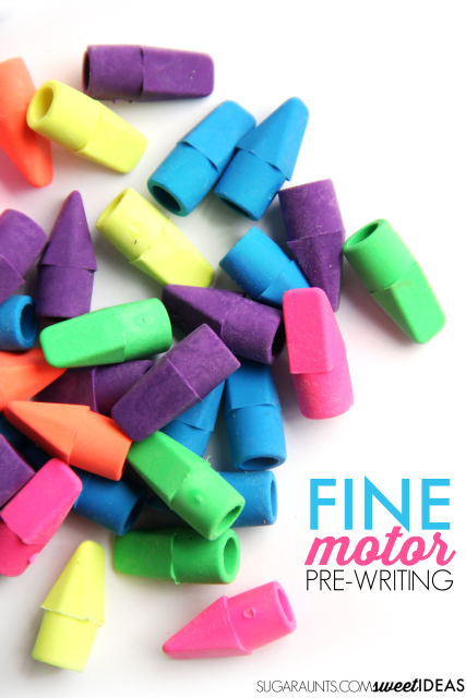 Try this pre-writing lines fine motor activity with preschoolers.
