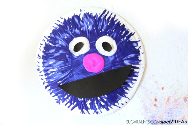 Monster at the End of This Book children's book and Grover craft from Sesame Street