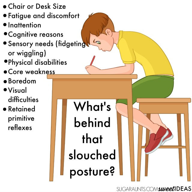 Slouched posture while writing and tips to help students improve handwriting