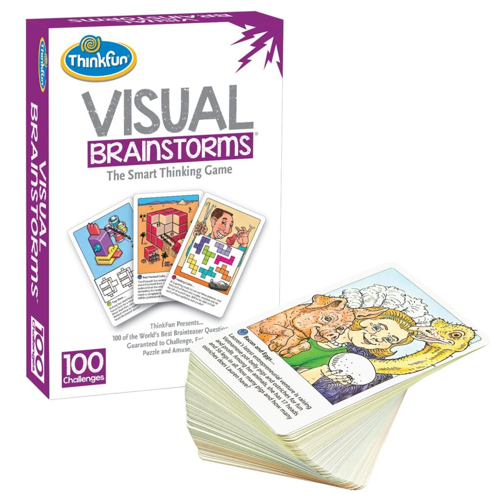 Visual Brainstorms game is great for improving executive functioning skills