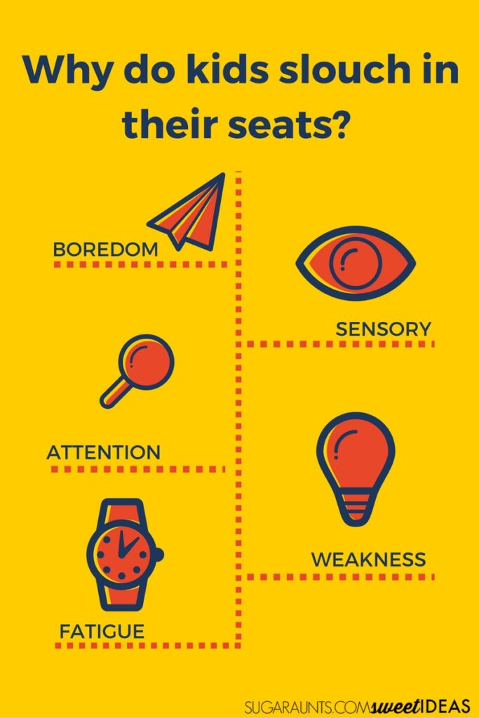 Why do kids slouch in their seats?