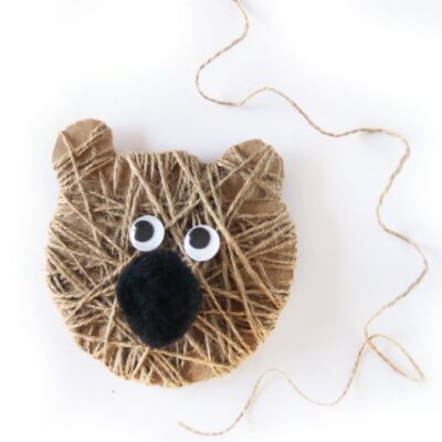 Cutest Ever Bear Craft Christmas Ornament