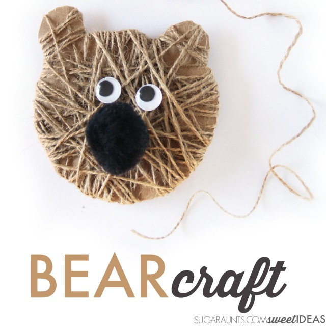 Cutest ever bear craft Christmas ornament for kids.