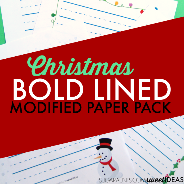Use this modified paper Christmas Handwriting Pack to work on legibility and handwriting struggles with kids.