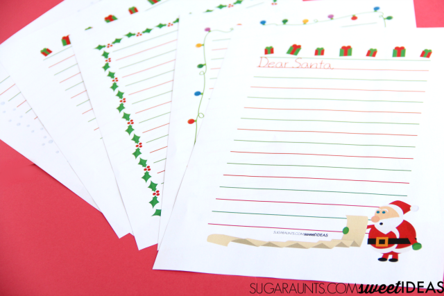 Modified paper Christmas Handwriting pages are great for kids to work on written work this holiday season.