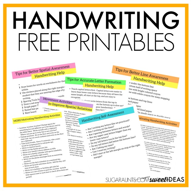 Try these handwriting tricks, tips, and strategies to help with handwriting.
