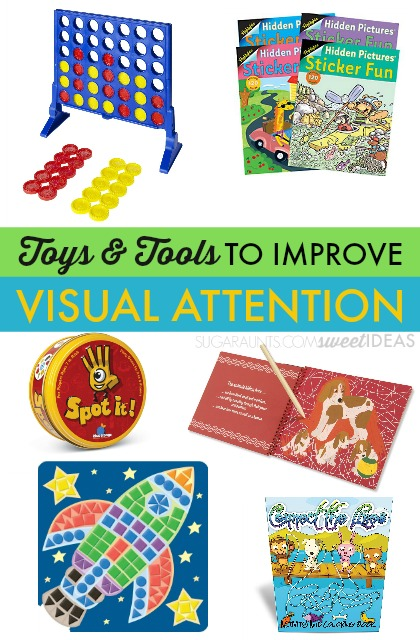 Toys to help with visual attention in kids