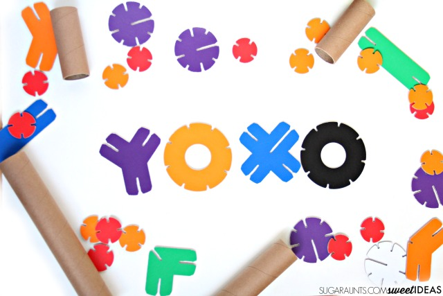 Fine motor development with building toys YOXO building kits