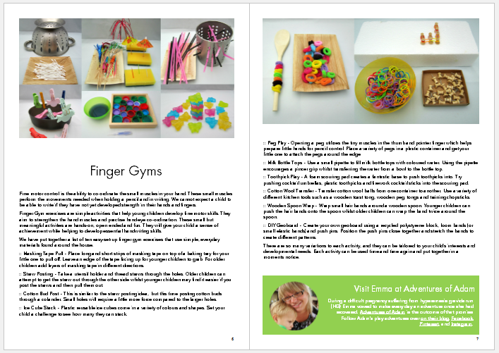 Kids will love these finger gyms and all of the hands-on handwriting activities for kids in the book Make Your Mark