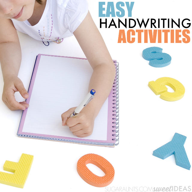Kids will love these easy handwriting activities that are fun!