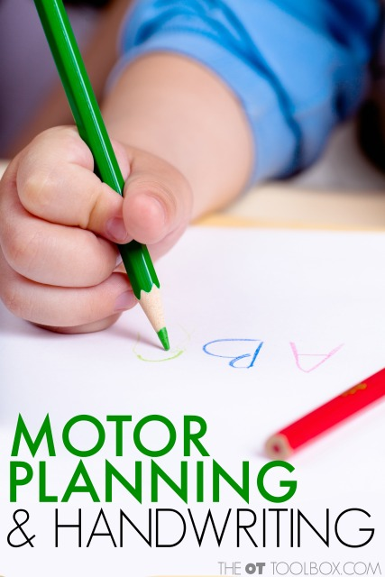 Motor planning and handwriting skills for kids