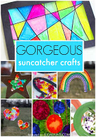 suncatcher crafts first grade art