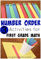 Teaching Number order first grade math