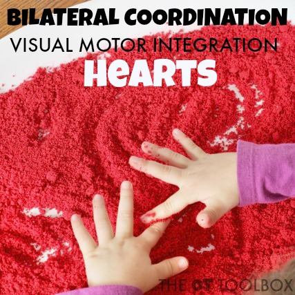 Work on bilateral coordination with this salt tray activity