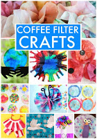 Coffee Fileter crafts first grade art