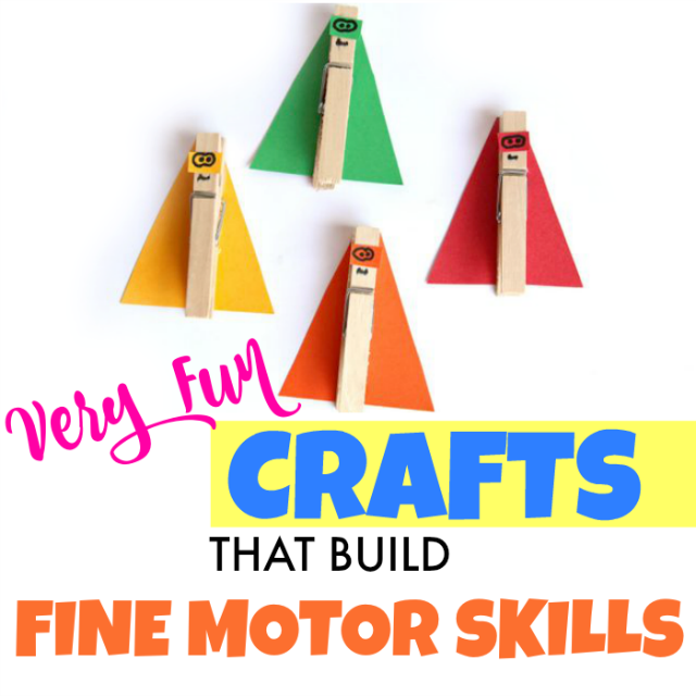 Kids crafts are a creative way to work on Occupational Therapy play and goals