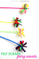 felt scraps fairy wands craft for kids