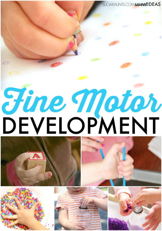 Fine motor development in kids activities