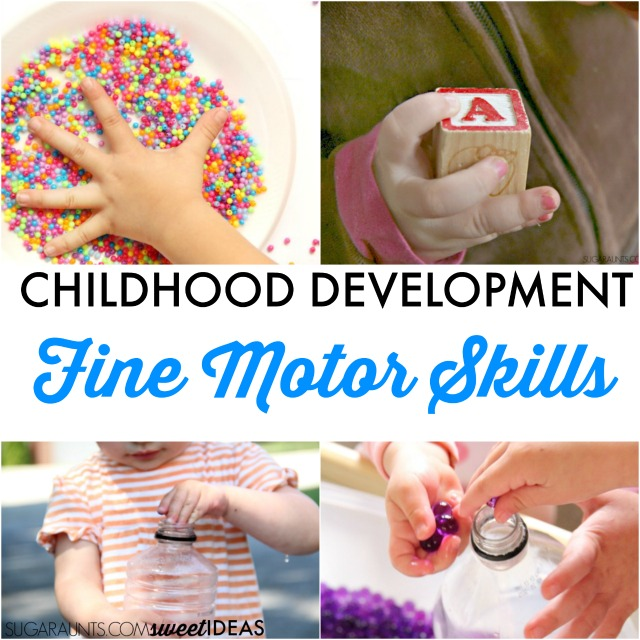 Development and activities to work on progression of fine motor skills in kids