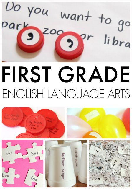 first grafe English Language Arts creative learning activities