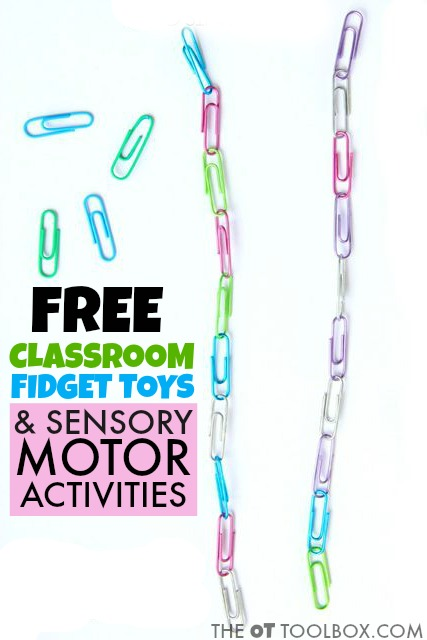 Free classroom sensory motor ideas for helping kids learn and pay attention with motor movement and sensory input.