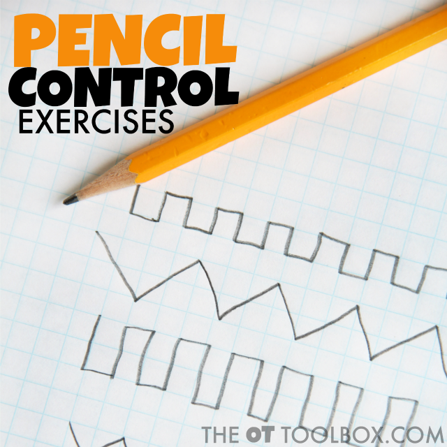Use this free pencil control exercise to help kids work on handwriting legibility