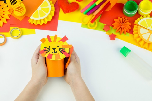 Lion craft to use as a self-regulation activity for kids