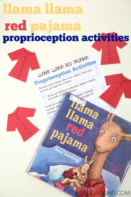 Llama Llama Red Pajama proprioception activities