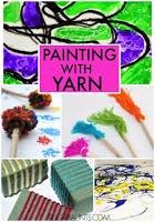 Painting with yarn art
