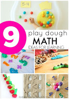 play dough math activities first grade