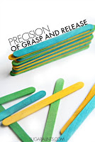 Development of precision of grasp and release